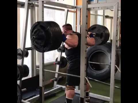 605 lbs squat for 3 with coach Gary Miller...depth needs work