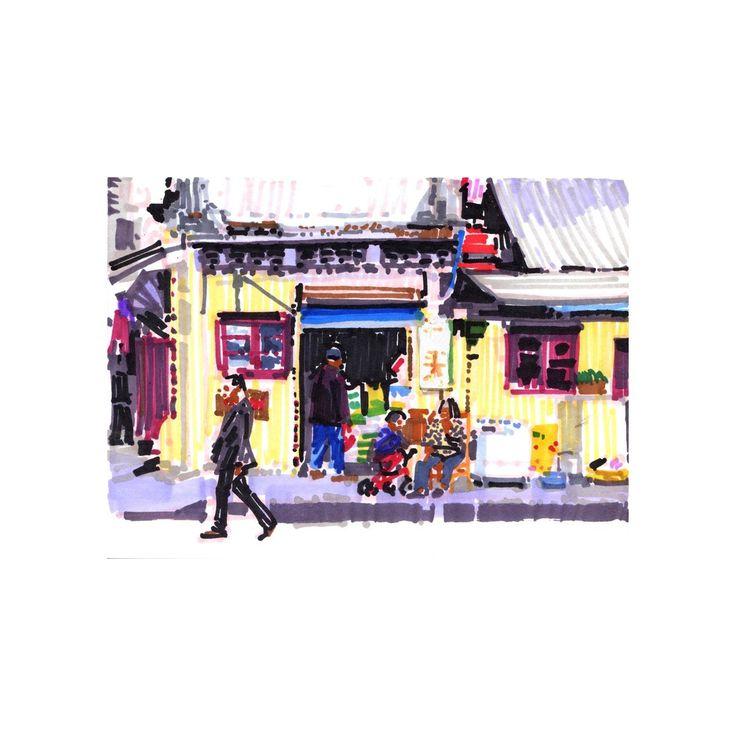 Olivier Morel - Shanghai 7 - achetez en ligne des oeuvres d'art originales à prix abordables en direct des ateliers d'artistes, sélectionnés par KAZoART et des experts du monde de l'art