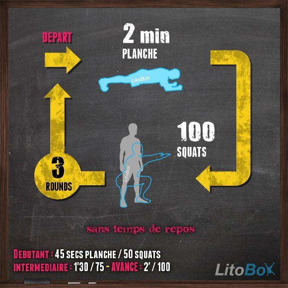Entraînement de musculation au poids du corps du 10/02 avec planche et squats !