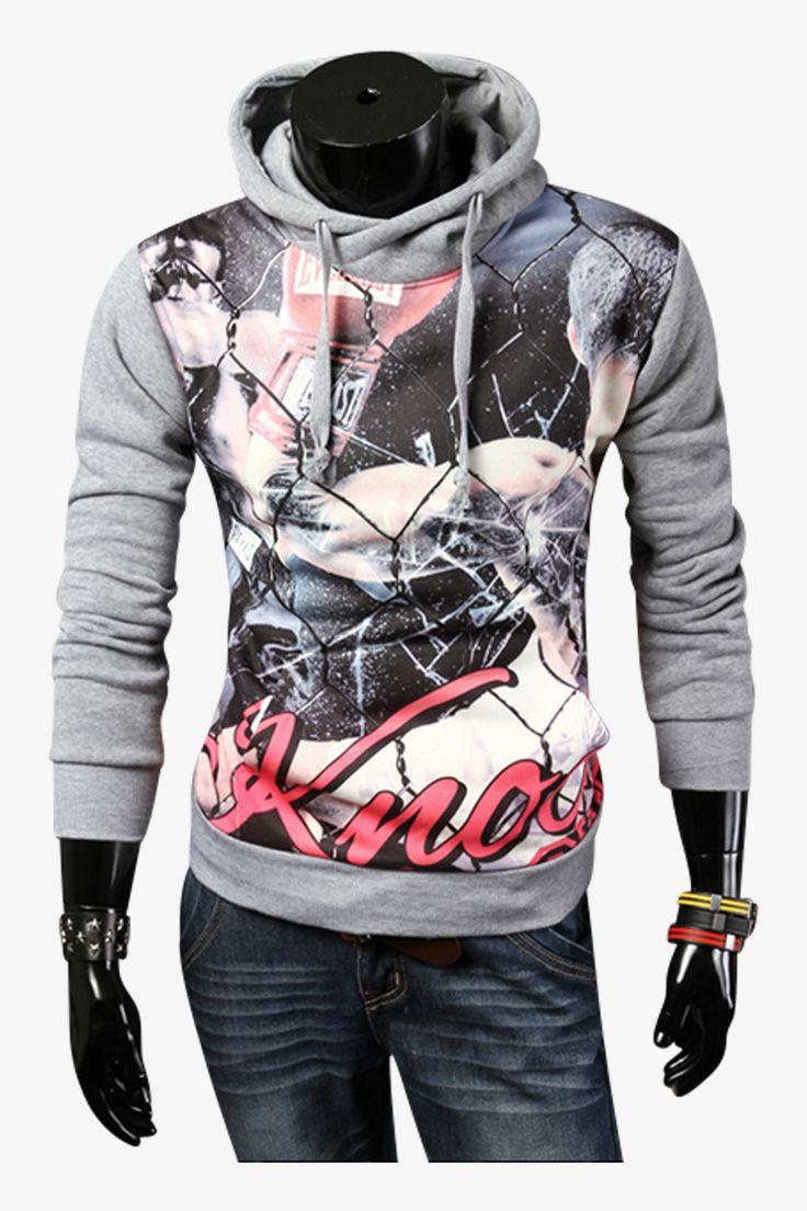 G.E. Smith Hoodied Sweatshirt In Light Gray