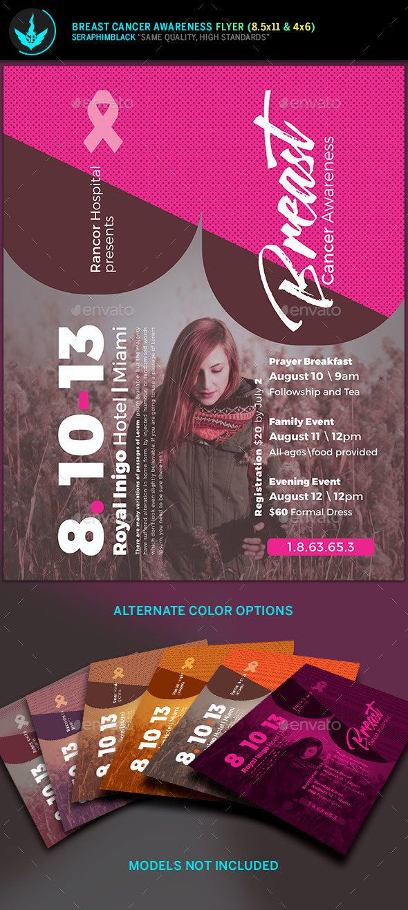 breast cancer awareness flyer template