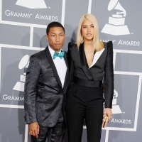 Pharrell Williams And Helen Lasichanh | GRAMMY.com: Grammy Awards, Celebrities Style, Celebrities Couples, Girlfriends Helen, 55Th Grammy, Helen Lasichanh, 2013 Grammy, Helen Jackets, Pharrell Williams
