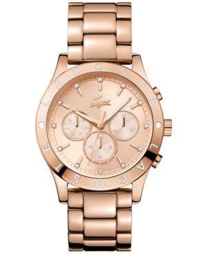 Lacoste Women's Charlotte Rose Gold-Tone Stainless Steel Bracelet Watch 40mm 2000964 - Gold