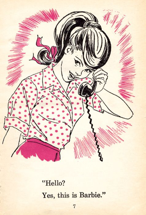 """Yes, this is Barbie"" vintage illustration, I actually used to own the book this is from! I totally idolized the fashion."