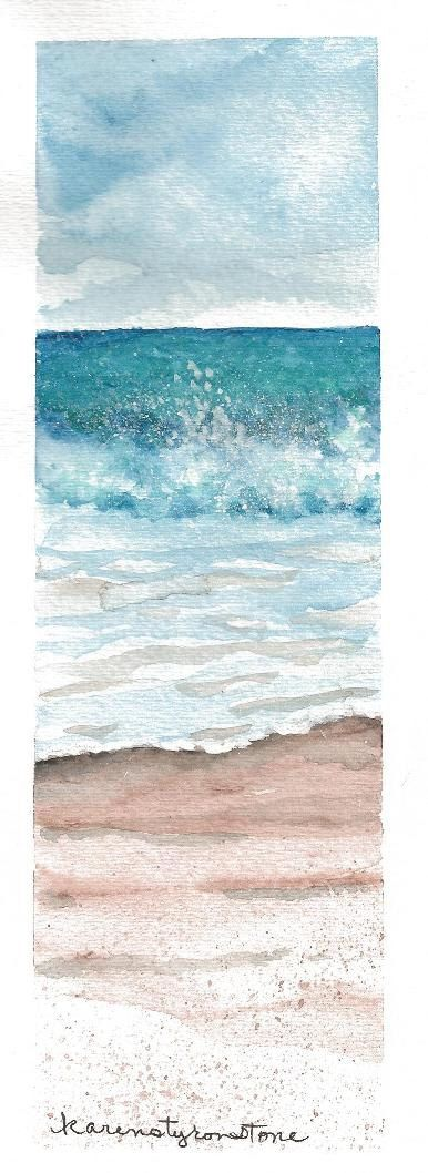 watercolor beach painting - this might be harder or easier but cool look regardless!