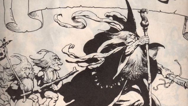 Frank Frazetta's bare-legged babes and barbarian fashions might seem an odd fit for JRR Tolkien's asexual, Anglon-Saxon epic, but in 1975, Frazetta did indeed collect a portfolio of Lord of the Rings illustrations, putting his own dark fantasy spin on characters like Gollum, Eowyn, and the Witch-King.