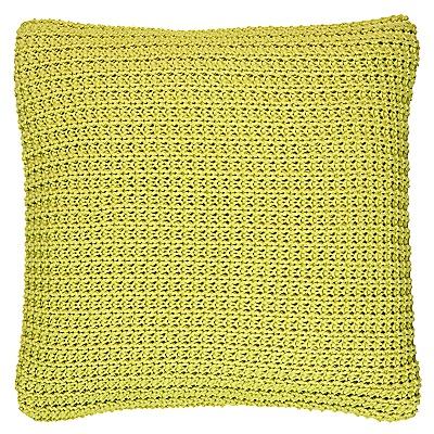 Buy Harlequin Snug Knitted Cushion, Zest online at JohnLewis.com - John Lewis