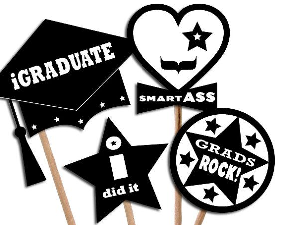D.I.Y. Printable photo booth props GRADUATION PARTY by 12punt3, $4.50