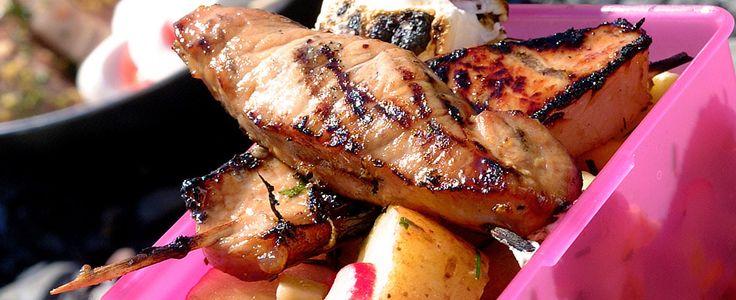 Kotelettspyd med asiatisk potetsalat