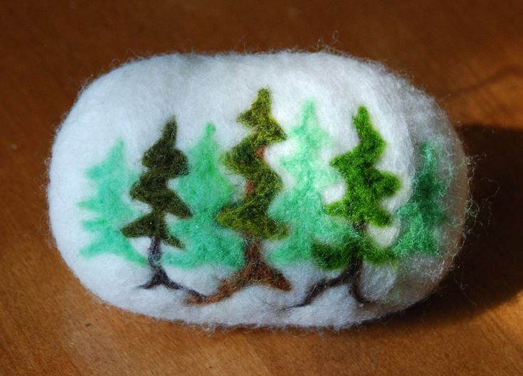 Felted Soap Pine Forsest--  So pretty
