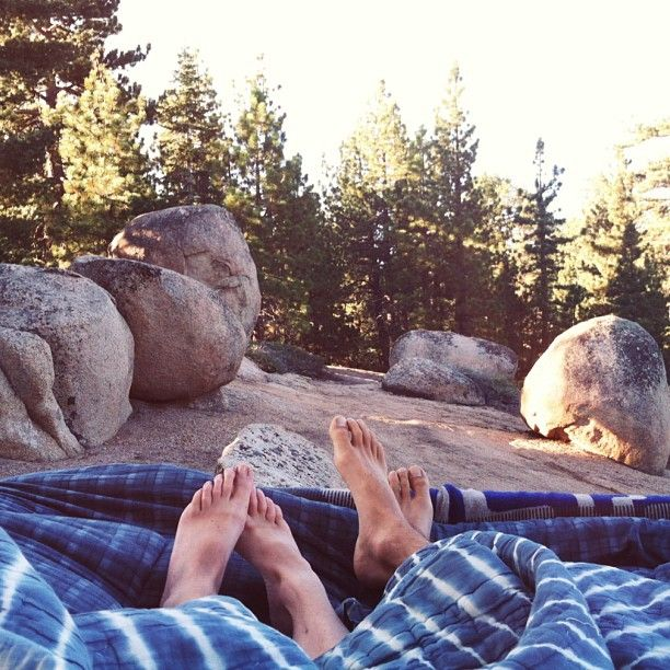 Waking up together in the wild.