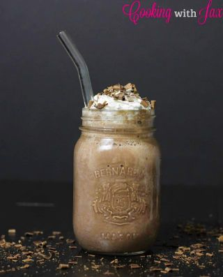 For a light and nutty frosty chocolate, freeze chocolate almond milk then blend it with regular almond milk and cocoa powder.Learn how to make it here.