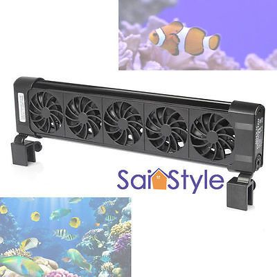 Heaters and Chillers 177799: Aquarium Chillers Cooling Fan (5 Fans) 200L Fish Tank+Power Adapter 12V Us Stock -> BUY IT NOW ONLY: $36.99 on eBay!