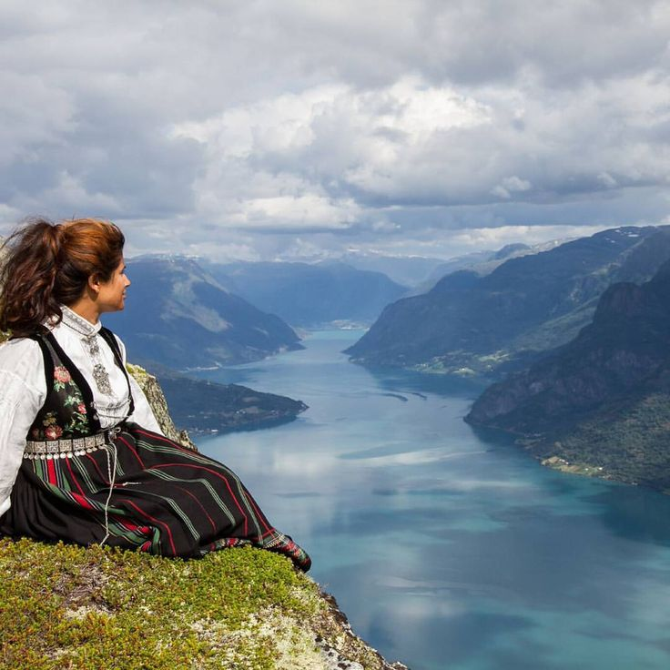 Looking at some old pictures :) Bunad (Norway's national costume) is maybe not the best hiking gear? - katrinmoephoto