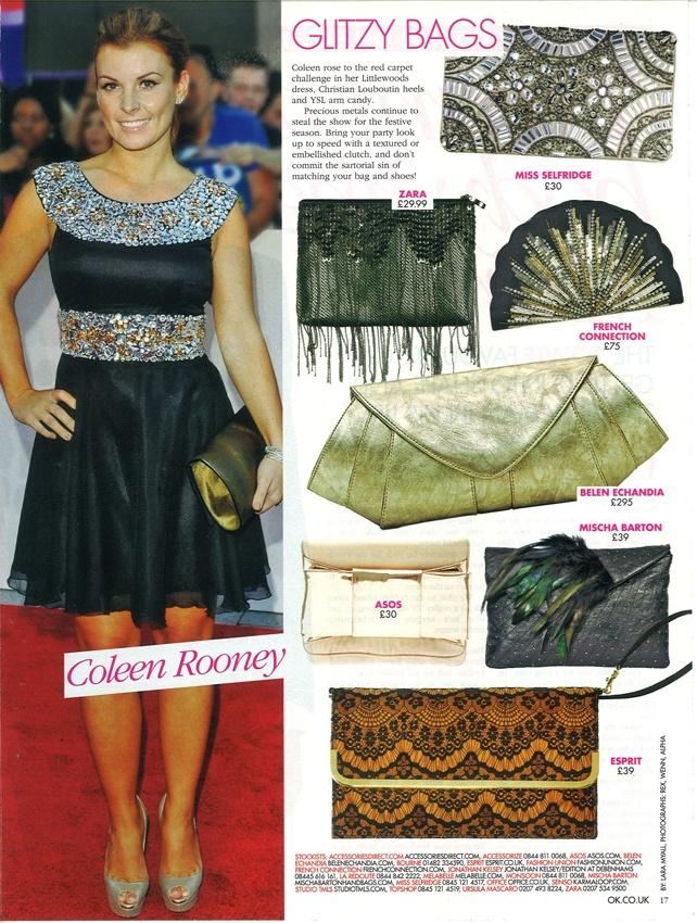 OK! Magazine features Belen Echandia's Clutch Me clutch bag: http://www.belenechandia.com/buy/handbags/clutch-me-anthracite-leather-clutch/
