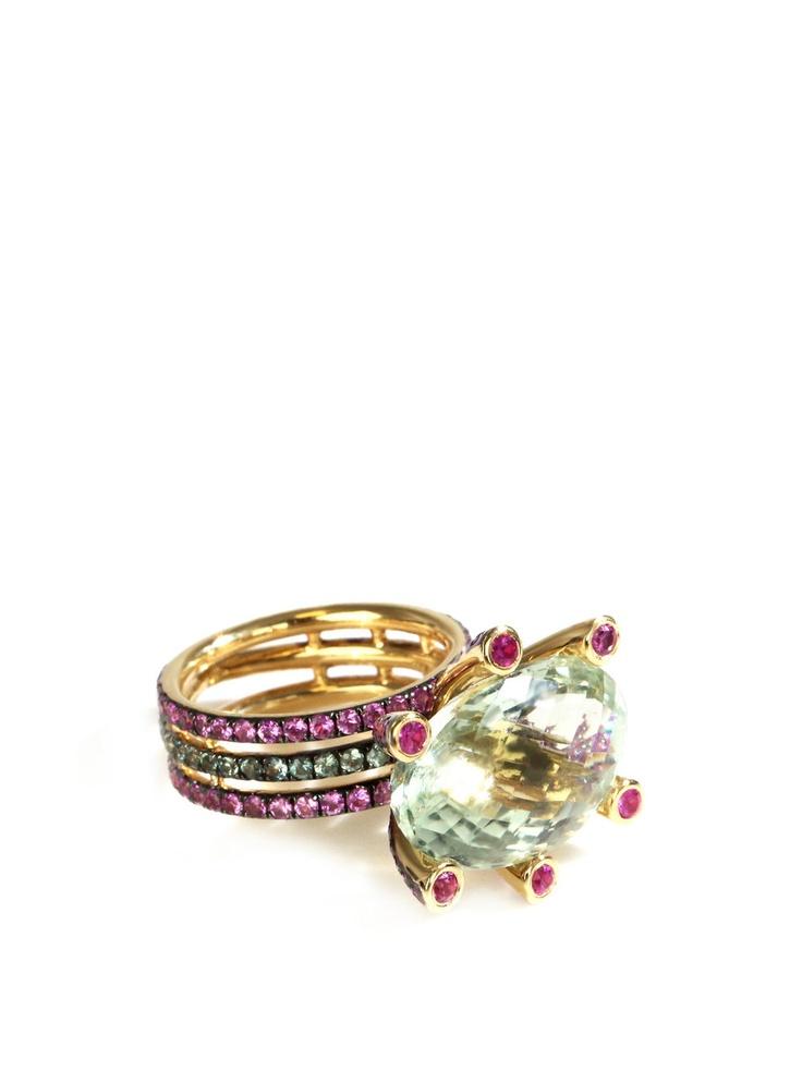 Leyla Abdollahi  18ct yellow gold Dione ring  $4814.00