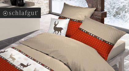 Schöne Winterbettwäsche für Ihr Schlafzimmer! http://www.betten.de/weihnachtsbettwaesche-reissverschluss-rentier.html