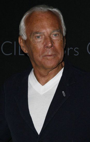 Giorgio Armani-born 1934 in Italy.He aspired to a career in medicine and enrolled in the Dept.of Medicine at the Univ.of Milan. He broke off his studies and worked at an infirmary in Verona, but decided on a different career after that.He became a salesman in a menswear retail dept store and a window dresser in Milan.He formed his company in 1975.