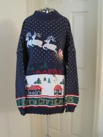 Womens Vintage Christmas Sweater (Sz XL)