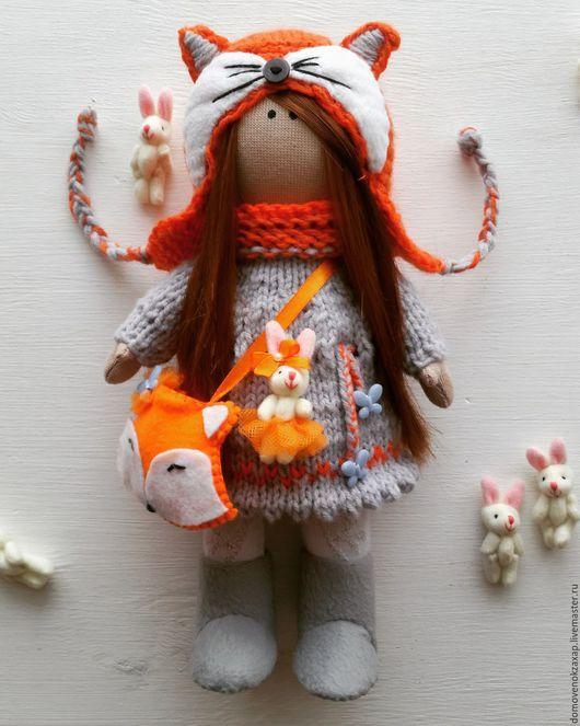 Куклы Тильды ручной работы. Ярмарка Мастеров - ручная работа. Купить Интерьерная кукла лисичка. Текстильная кукла. Рыжая лиса. Кукла лиса.. Handmade.