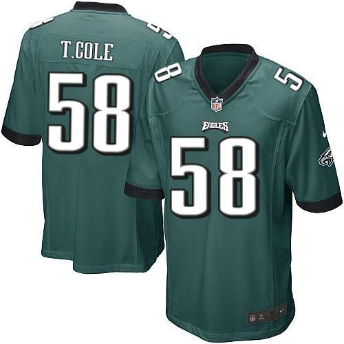 Nike NFL Philadelphia Eagles #58 Trent Cole Limited Youth Midnight Green Team Color Jersey Sale