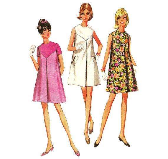 1960s Tent Dress  Vintage Pattern McCalls 9101  32 by ErikawithaK