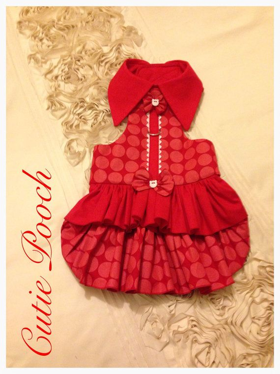 Red Currant Delight red dog dress by Cutie Pooch custom made dog clothes all sizes xs s m l xl xxl available by CutiePooch on Etsy https://www.etsy.com/listing/229847684/red-currant-delight-red-dog-dress-by
