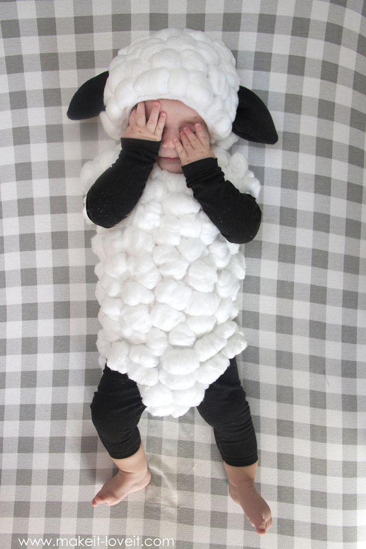 Machen Sie ein Baby Lamm Kostüm ….. ein einfaches Tutorial – #Baby #Costumea #Lamb #simple