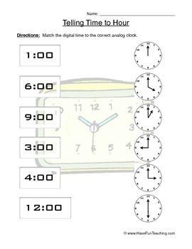 Time Worksheets » Time Worksheets Have Fun Teaching - Free Printable ...