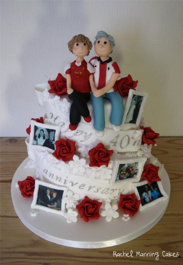 Cake Decorating Ideas For Ruby Wedding : 1000+ ideas about 40th Anniversary Cakes on Pinterest ...