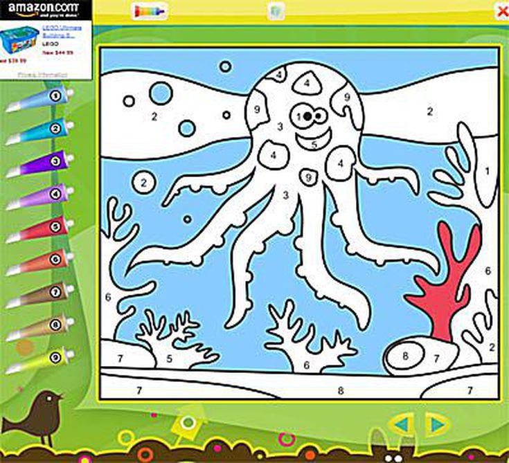 Your Kids Will Love These Color by Number Online Games: Color by ...