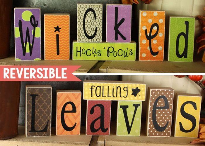 Reversible Blocks {Wicked/Leaves}