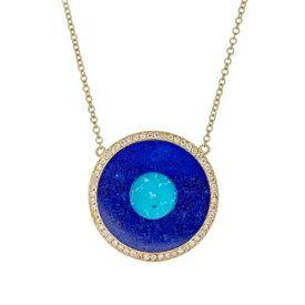 Jennifer Meyer Evil Eye Pendant Necklace