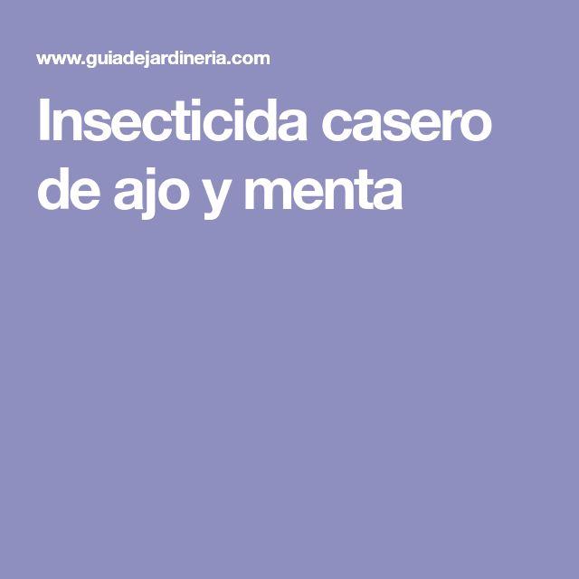 Insecticida casero de ajo y menta