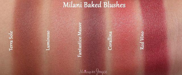 Milani Red Vino vs Corallina Swatches
