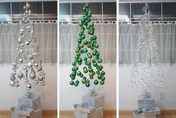 árvore de natal suspensa, christmas tree ball, decoração natal, árvore criativa
