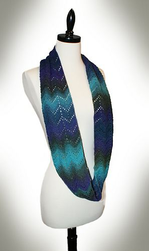 Richmond Lace Infinity Scarf - made one of these in a beautiful self striping yarn. Love it! #crochet