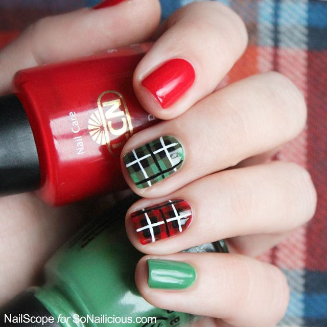 Christmas Nail Art Tutorial Gingerbread Galore: Plaid Nail Art Tutorial