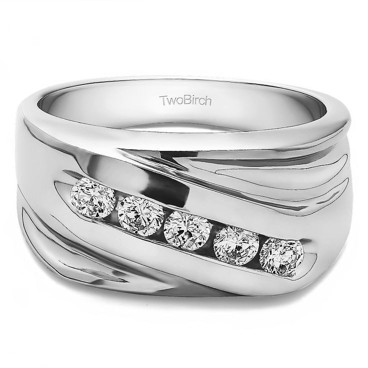 Sterling Silver Designer Men's Fashion Ring Or Cool Mens Wedding Band With Diamonds (G-H,I1-I2) (0.5 Cts., G-H, I1-I2) (Yellow Plated Sterling Silver, Size 12.5) (solid)