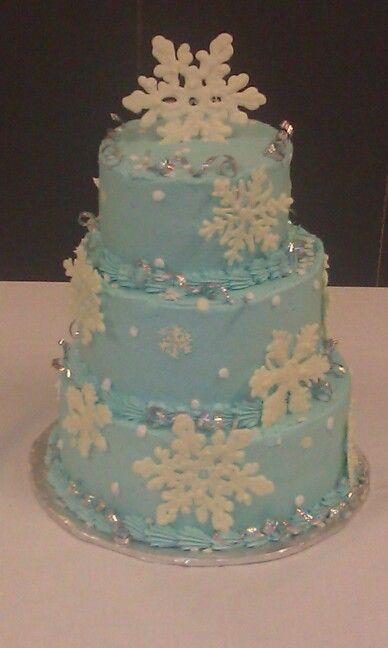 Snowflake Cake Emma Cakes Pinterest Wedding Frozen