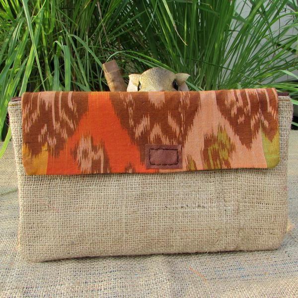 Alicia Gunny Ikat Tenun Clutchbag by DeNesia - Handmade clutch bag