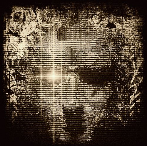 """Small """"I C ASCII Selfie"""" by Armin Sky and Jaya Prime I originally took this selfie while in Otterberg, Deutschland (2007). I later turned it into ASCII art, then added street art and fractals to it. Then, just weeks ago, I got an animated version of it..."""