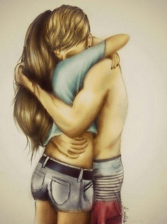 Рисованные картинки парень девушка