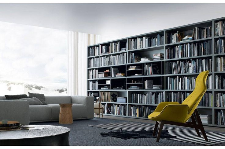 WALL SYSTEM Bookcase by Poliform | Wall System | Pinterest ...