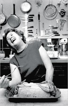 """Julia Child — """"The only real stumbling block is fear of failure. In cooking you've got to have a what-the-hell attitude."""""""