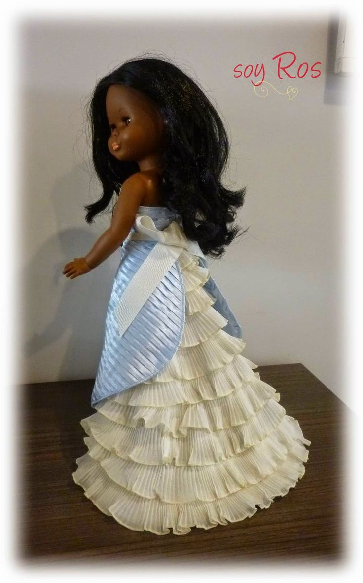 soy Ros. Vestido para muñeca Nancy en 3 piezas con patrones del top y el delantal