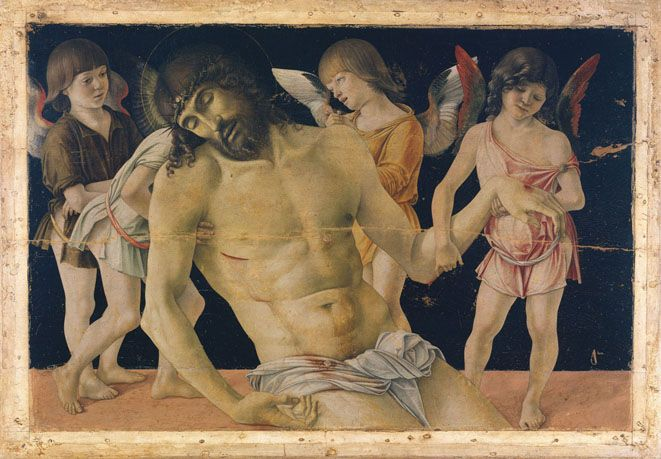BELLINI Cristo in pietà sorretto da quattro angeli Rimini Museo Città