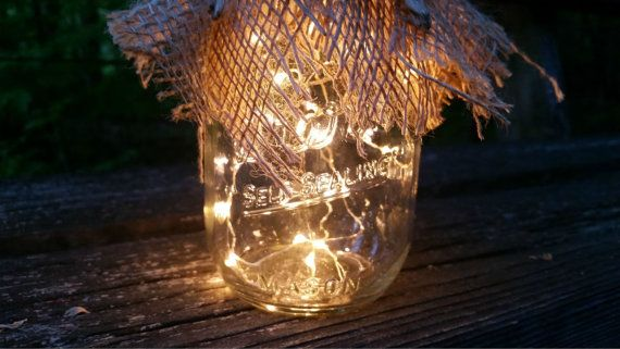 Light Mason Jars Firefly Mason Jar by TheLovelyGlassJar on Etsy