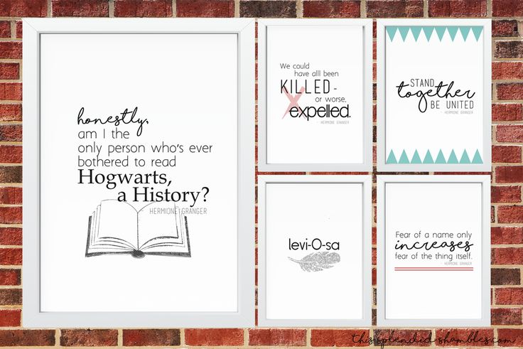 In celebration of Hermione Granger's birthday, I've put together 5 free printables! Print away, friends!  http://www.thissplendidshambles.com/2016/09/5-free-printables-celebration-hermione-grangers-birthday/