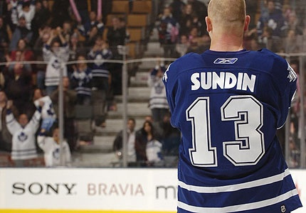 Mats Sundin #13 arguably one of the greatest players to wear the blue and white!